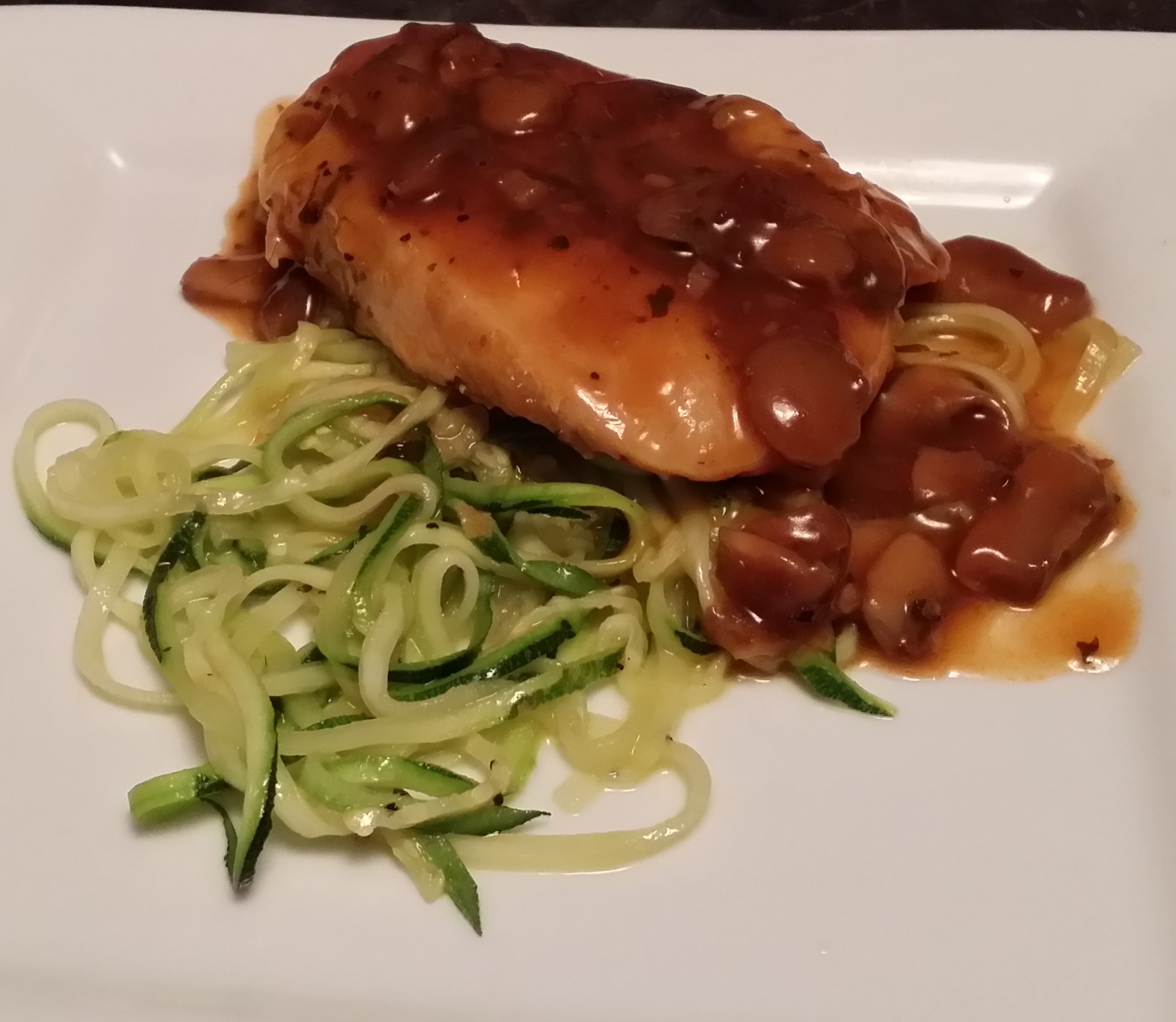 Low Carb Chicken Marsala with Zucchini Noodles | LOW CARB SIMPLE